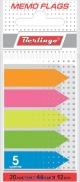 Блок закладок липкие 44*12 мм 5 цв 20л в диспенсере неон Berlingo 44101